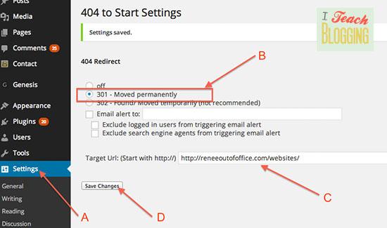 Wordpress-404-setting