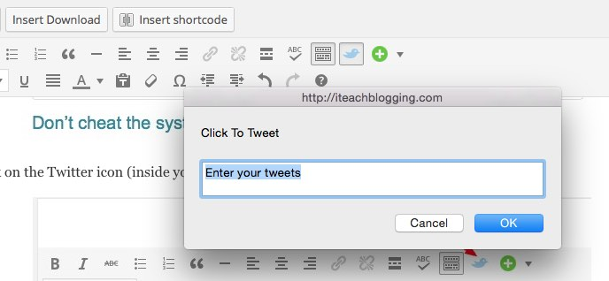 how to use click to tweet