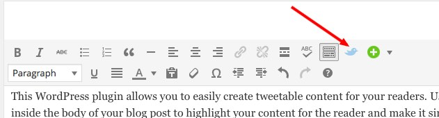 tutorial on WordPress click to tweet