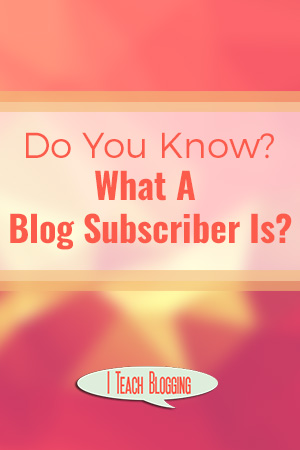 What is a blog subscriber?