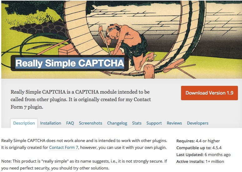 WordPress Plugin Really Simple CAPTCHA