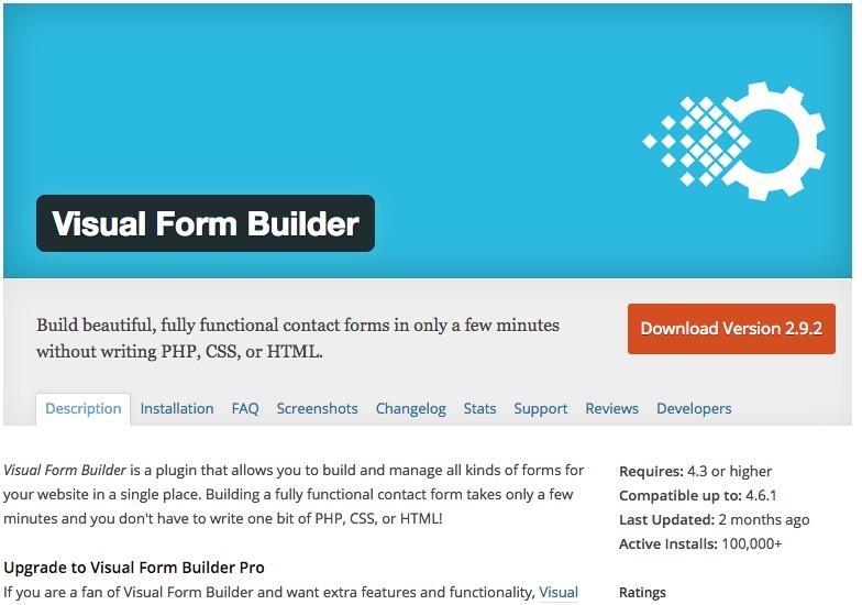 WordPress Plugin Visual Form Builder