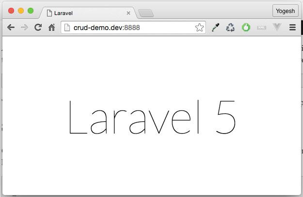 Laravel-Welcome-Screen