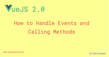 How to Handle Events in VueJS 2.0