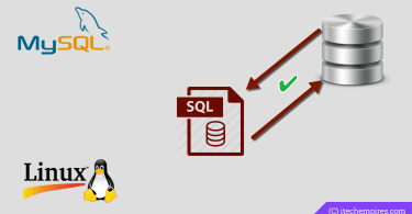 MySQL Database Backup and Restore from Terminal