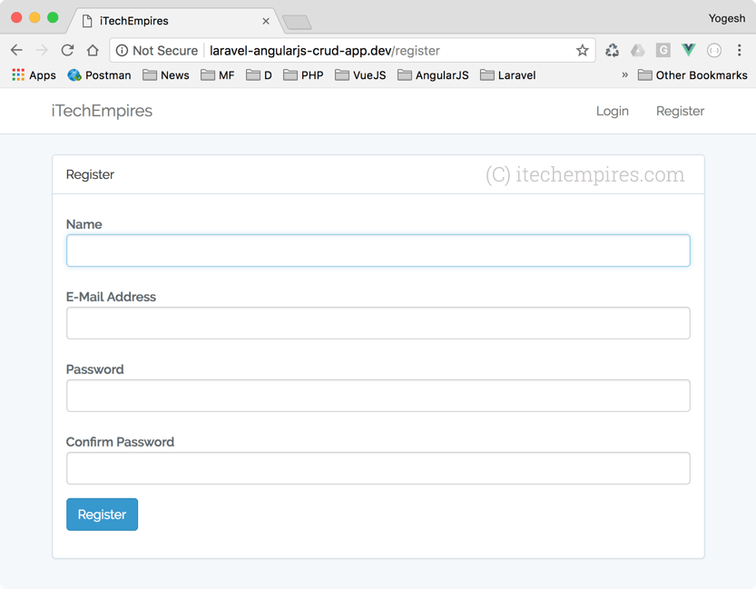 Laravel 5 5 AngularJS CRUD Operations Application – iTech Empires