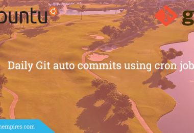 Daily Git auto commits using cron job