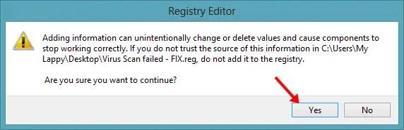 Virus scan failed