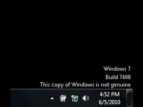 How to fix Windows 7 Not Genuine Error build 7600 / 7601