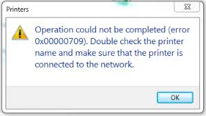 Operation Could not be Completed (ERROR 0x00000709) – How to Fix Printer Error