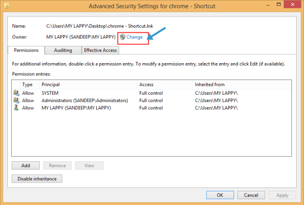 chrome advanced security setting