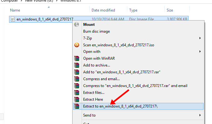 extract windows files