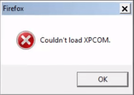 couldn't load xpcom