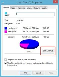 disk cleanup windows 8