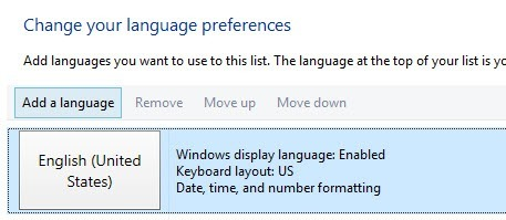 Change Keyboard Language