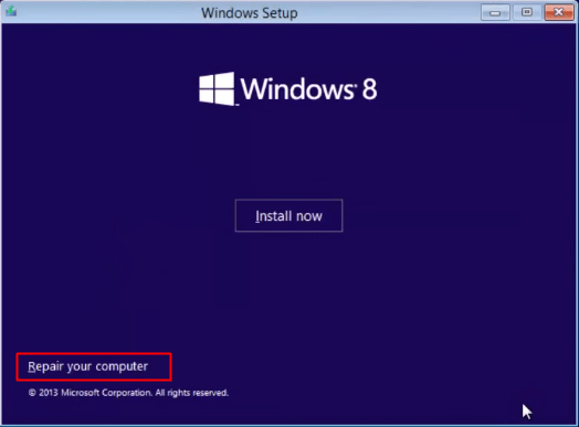 repair windows 8