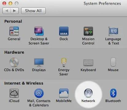 change dns mac