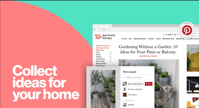 pinterest save button extension for edge browser