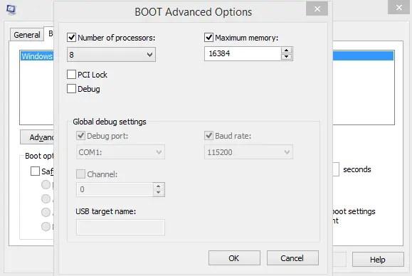 advanced boot option