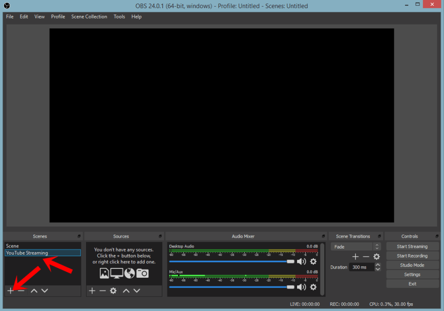 youtube livestreaming obs