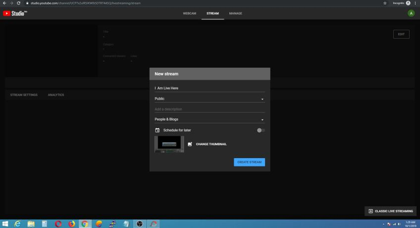 youtube studio streaming