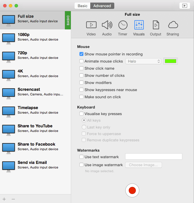 ishowU mac recorder app