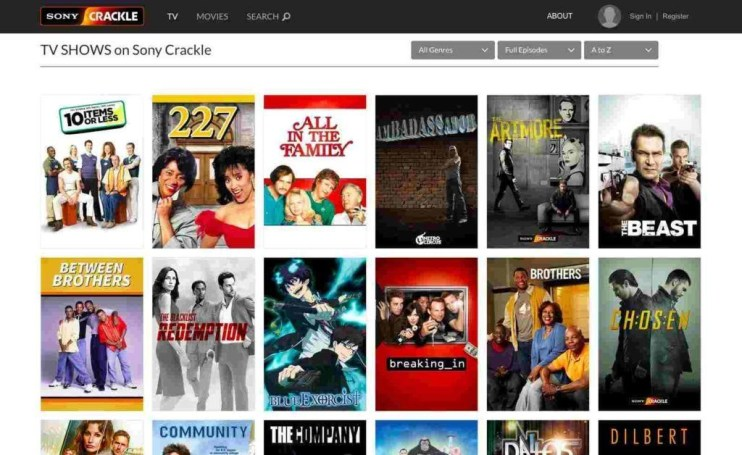 watch movies online sony crackle