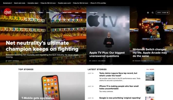 cnet tech website