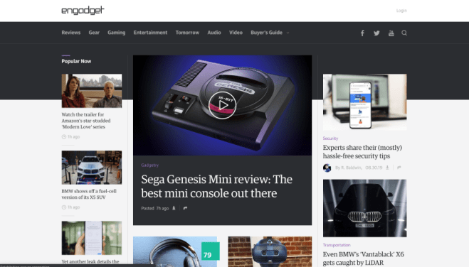 engadget screenshot