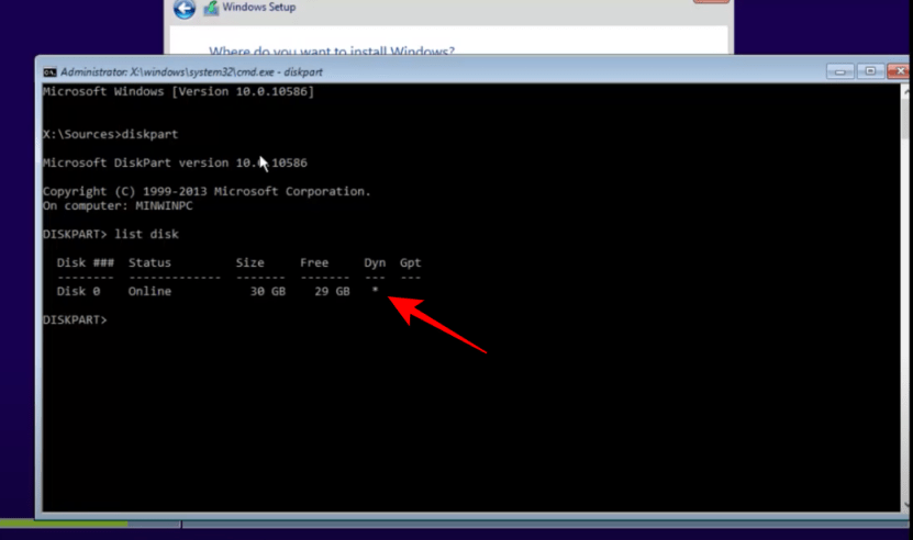 diskpart command prompt
