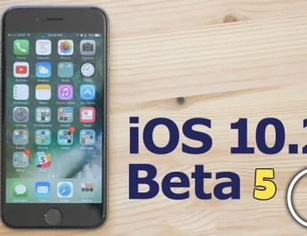 iOS 10.2 - Beta 5