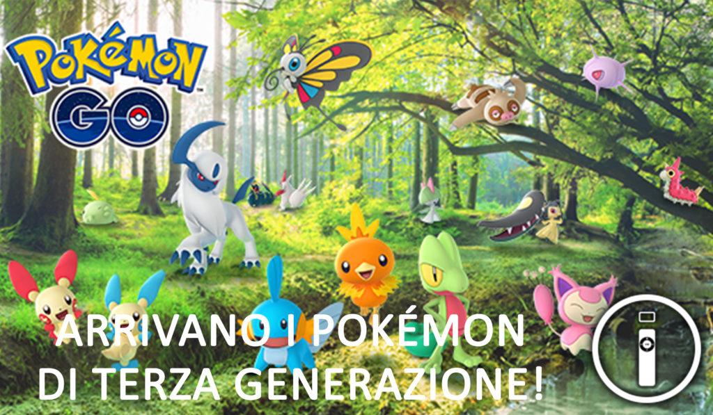 Pokémon Go: introdotti i primi 50 Pokémon di Terza Generazione!