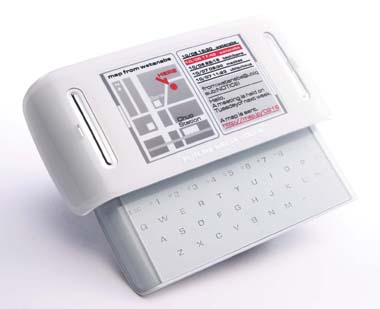 Fujitsu Concept Phone touch-sensitive keys