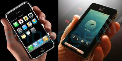 Apple iPhone vs. LG KE850
