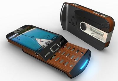 Luxury Wooden Phone Concept