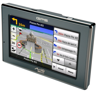 Mio C620 and C620t GPS Device with 3D maps