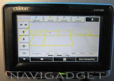 Clarion EZD580 GPS Navigation Device