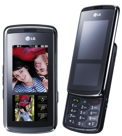 LG KF600 Phone with InteractPad UI