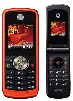 Motorola W230 and W270 Mobile Phones