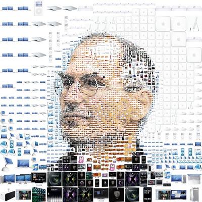Steve Jobs Mosaic Portrait