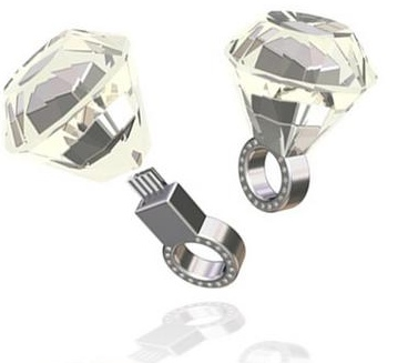 Swarovski Crystal Engagement Ring USB Flash Drive