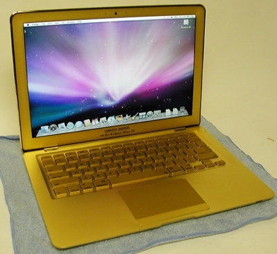 Apple Macbook Air in 24kt Gold & Sapphires