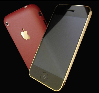 GoldStrikers-iPhone Nightfire Edition with 24ct Gold and Leather