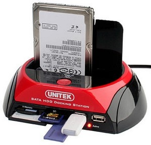 Unitek HDD Dock / Multi Card Reader