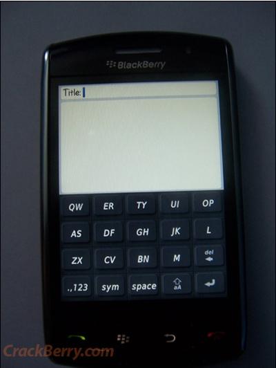 RIM BlackBerry Thunder