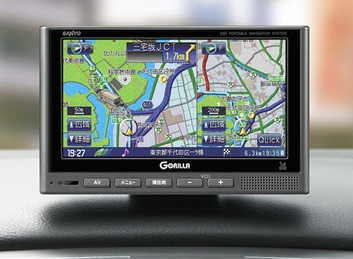 Sanyo Gorilla NV-SD585DT GPS Device with SSD