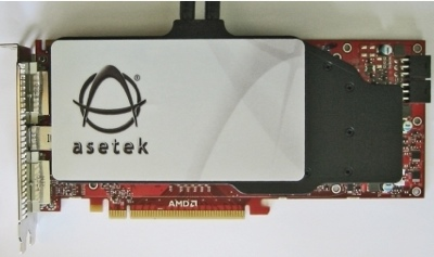 Asetek liquid cooler for ATI Radeon HD 4870 X2