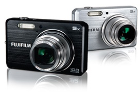 FujiFilm FinePix J110w and J100 Compact Slim Cameras