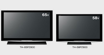 Panasonic Viera TH-65PZ800 and TH-58PZ800 Plasma HDTVs