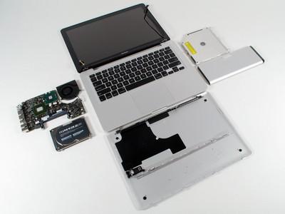 Apple MacBook Aluminum Disassembled